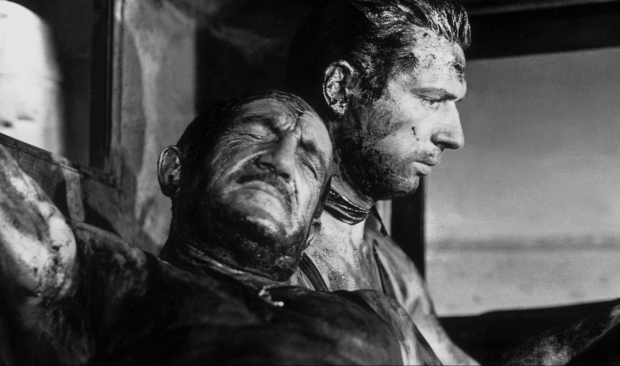 Charles Vanel(left) and Yves Montand (right) in Henri-Georges Cl